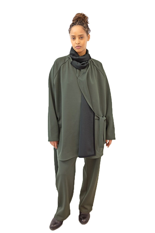 Image of FOS Trousers -Wool - Dark green
