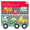 Petit Collage Trucks Puzzle & Play