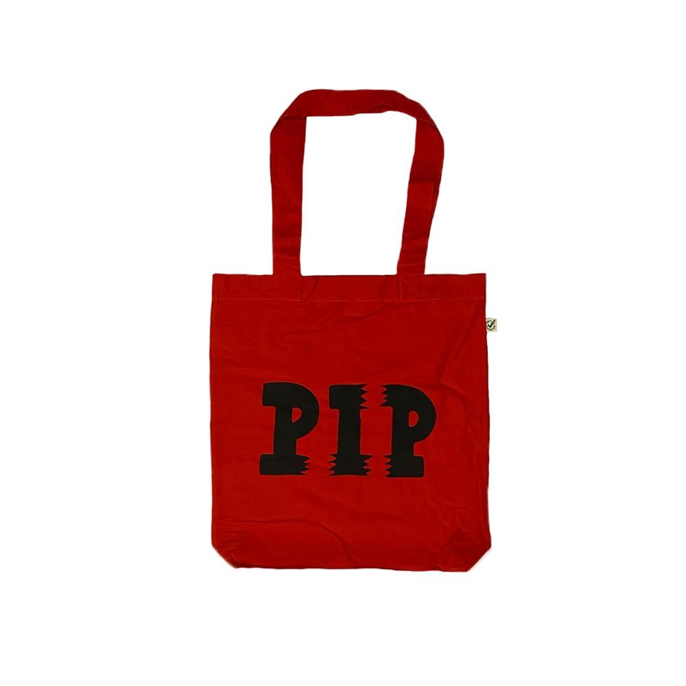 Image of PIP LOGO TOTE BAG | RED