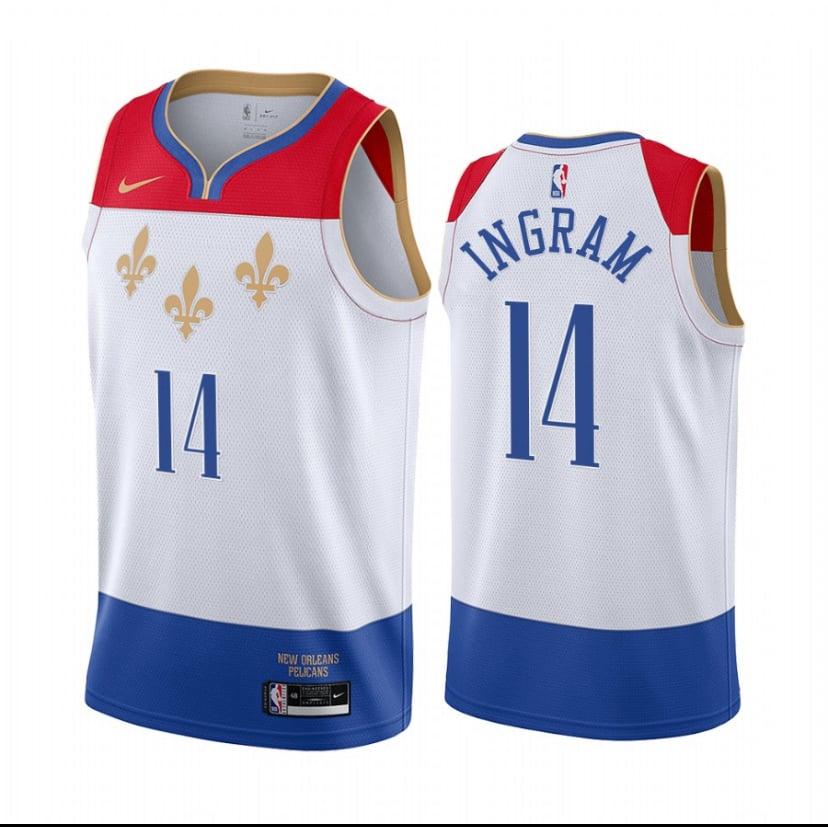 Image of Brandon Ingram pelicans city edition jerseys 2020/2021