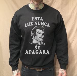 Image of ESTA LUZ CREW NECK BLACK SWEATER