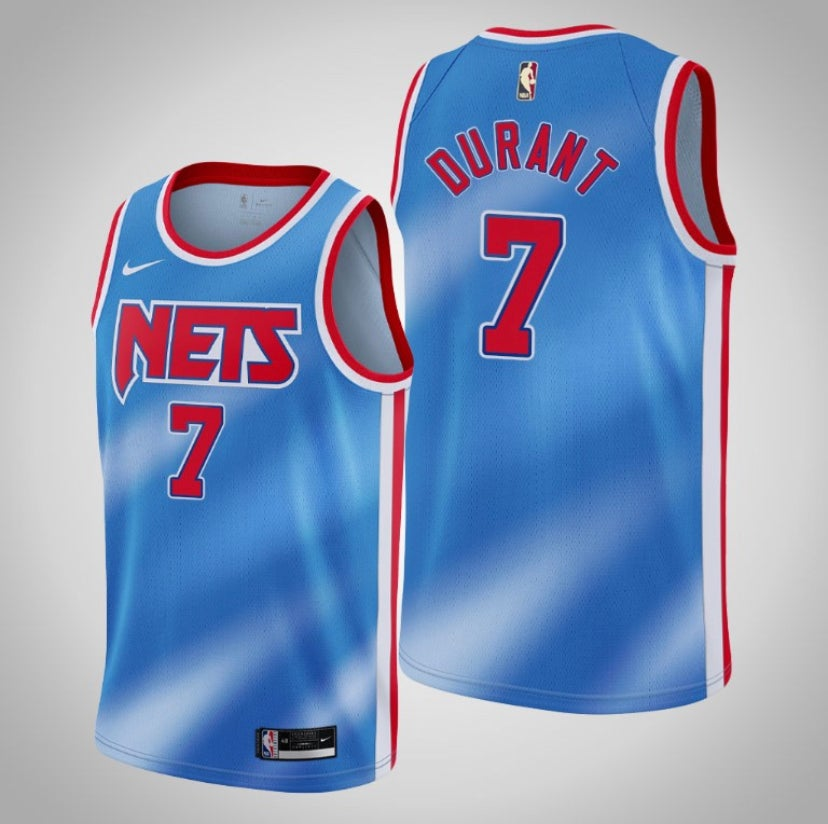 Image of Kevin Durant Brooklyn city edition jerseys 2020/2021