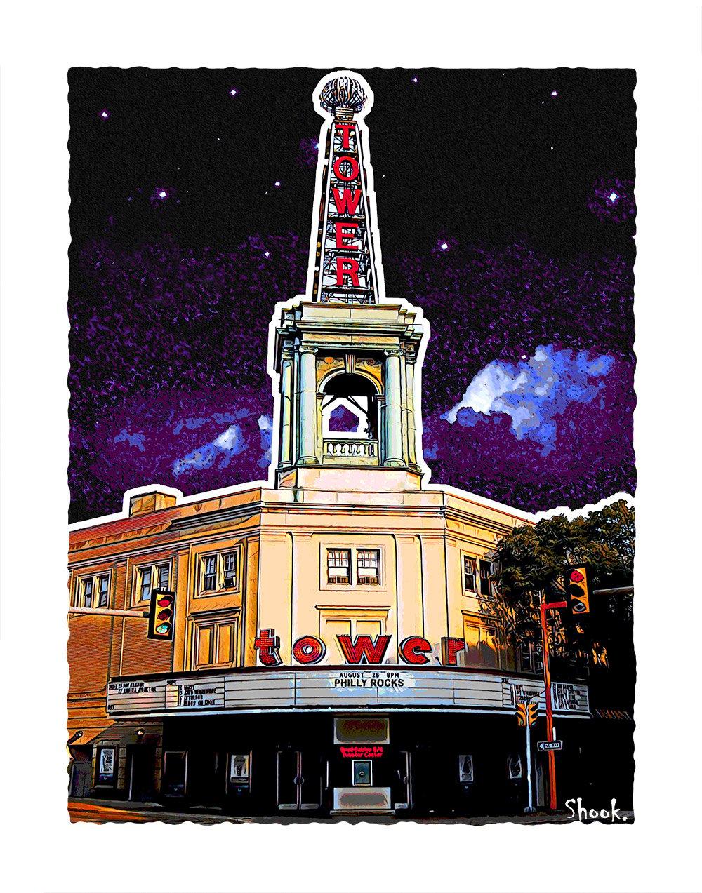 "Tower Theater Philadelphia Giclée Art Print - 11"" x 14"""