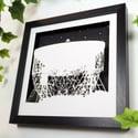 Papercut Jodrell Bank picture - Square