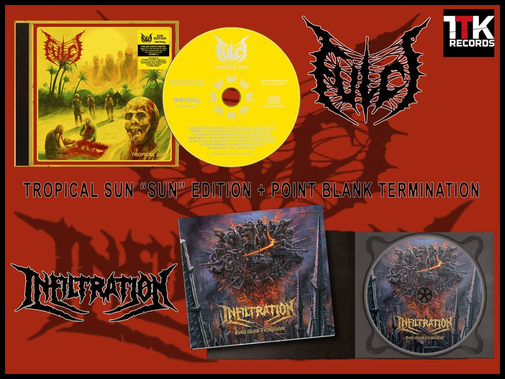 "Image of BUNDLE: FULCI ""Tropical Sun - Sun Edition"" + INFILTRATION ""Point Blank Termination"""