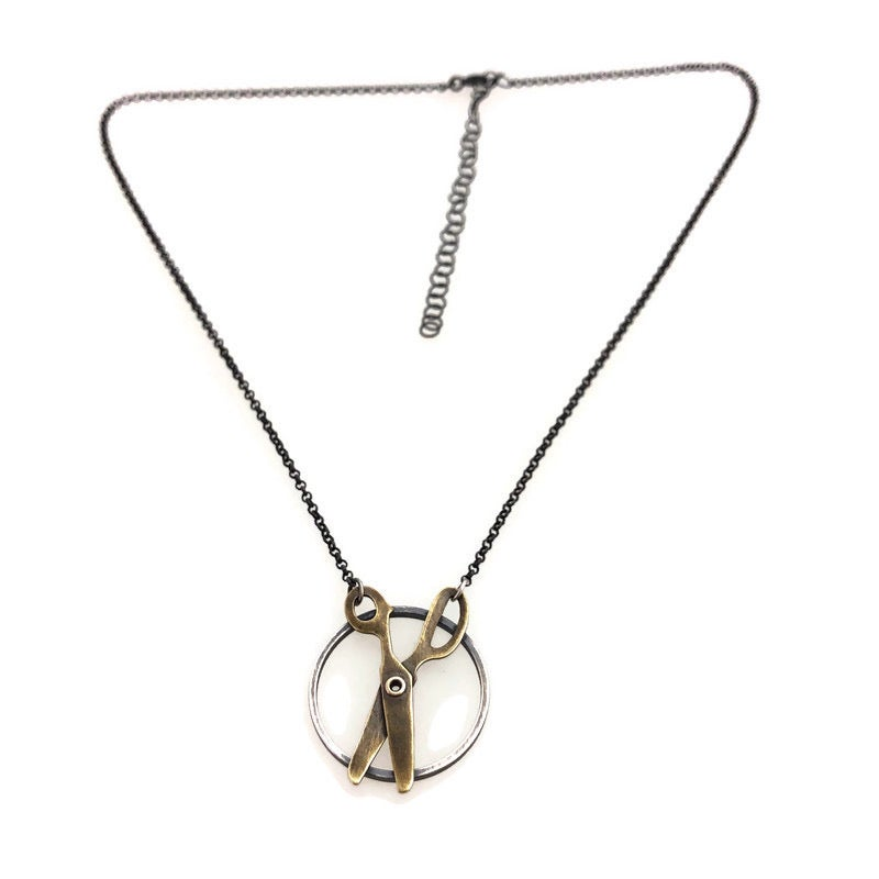 Image of scissors necklace