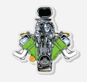 Image of GIMME HEMI Acrylic Pin