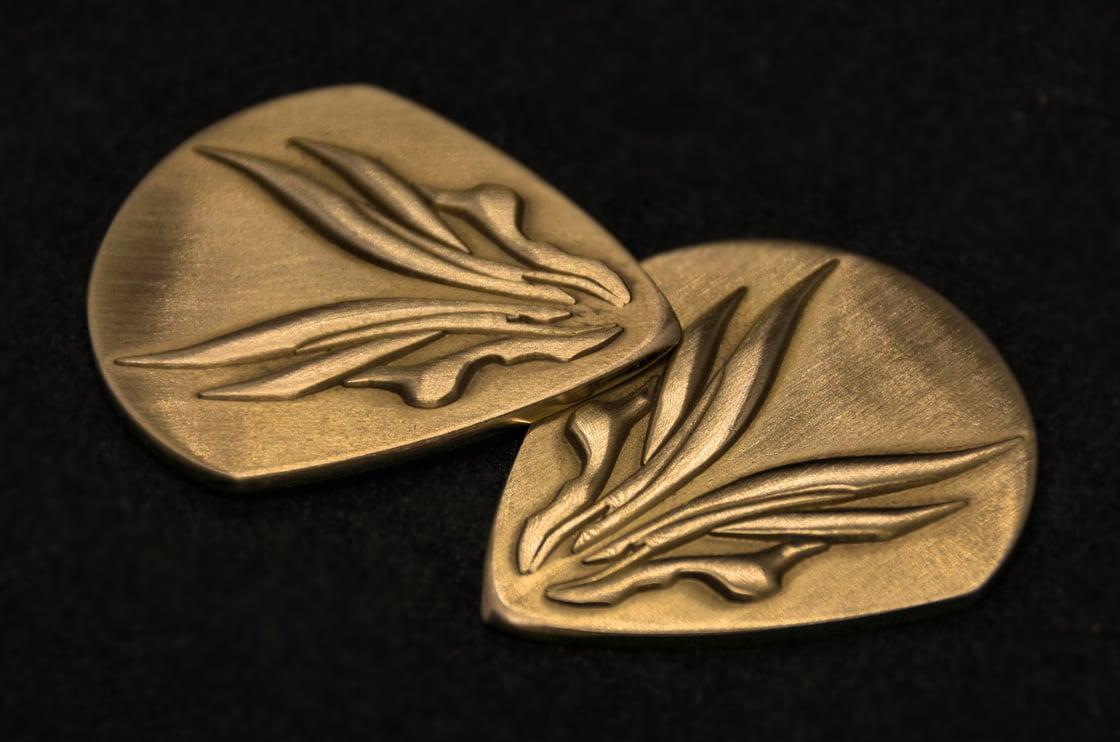 Image of Hufschmid solid brass plectrums