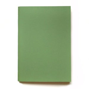Image of vegan leather notebook – olive green