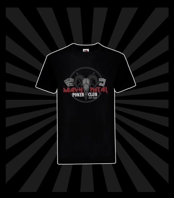 Image of HEAVY METAL POKER CLUB BLACK T