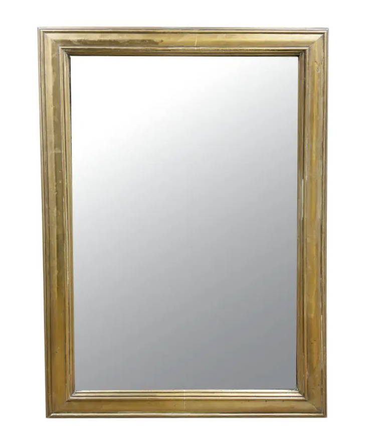 Image of 19th Century French Brass Bistro Mirror