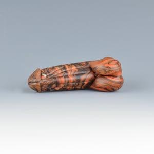 Image of Redwood Phallus Charm Bead - Flamework Glass Sculpture Bead