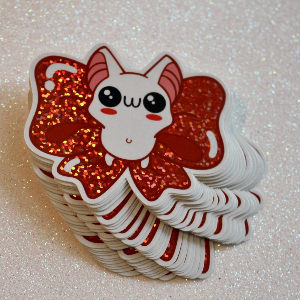Glitter Bowbean Holiday Edition Sticker