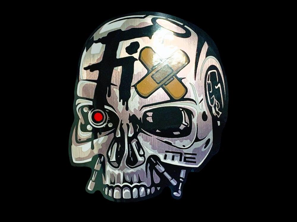 "Image of Workshop 432 ""Fix Me"" Metallic Sticker"