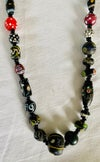 necklace of old black and red trade beads