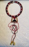 Masai beaded necklacewith cowrie shells