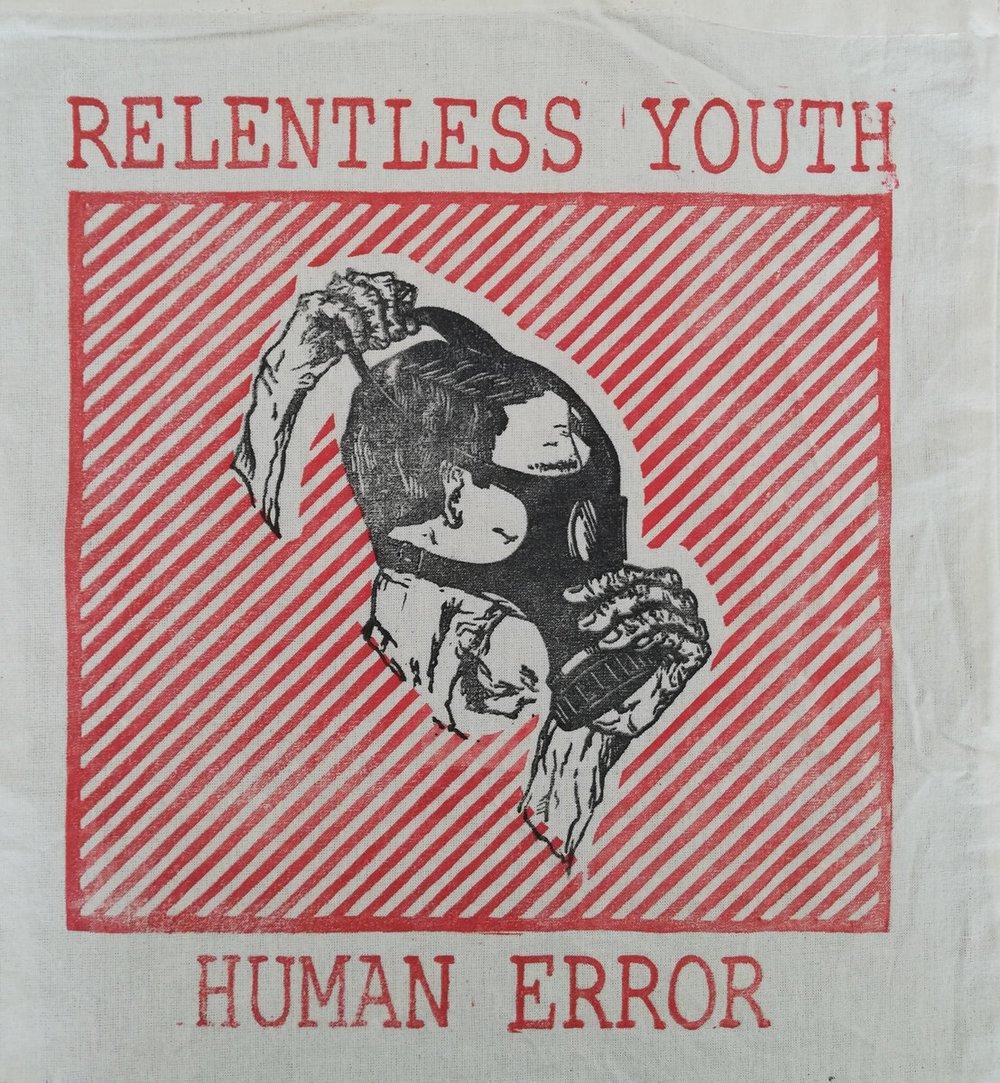 RELENTLESS YOUTH Human Error Tote Bag