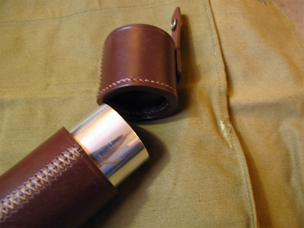 "Image of Leather Float Tube 2.5"" diameter (A)"