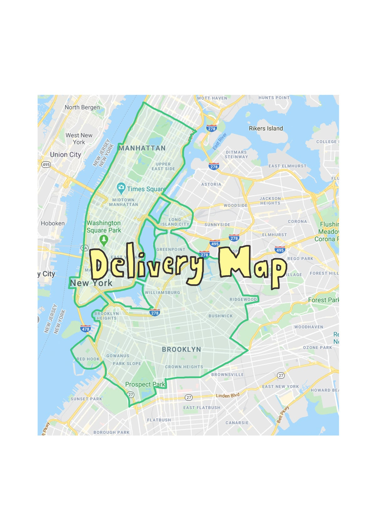 Image of Delivery Zone Map