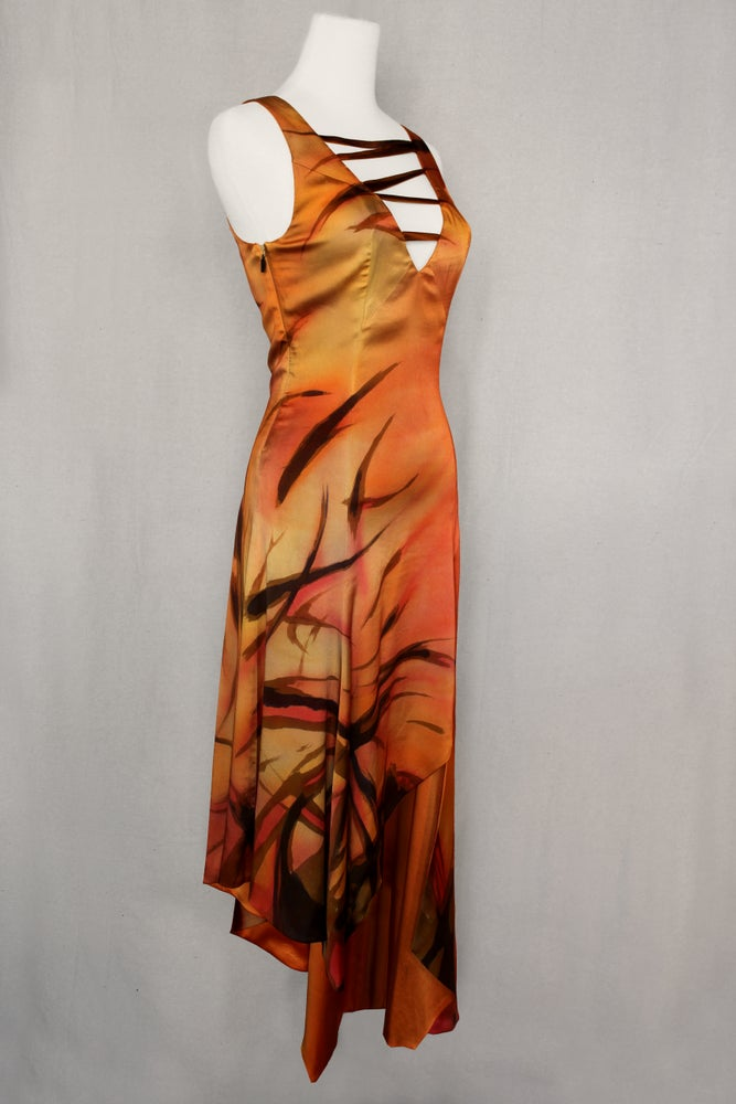 "Image of ""SAIL FOR THE SUN"" SILK DRESS"