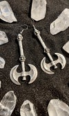 ANTIQUE SILVER VIKING AXE EARRINGS