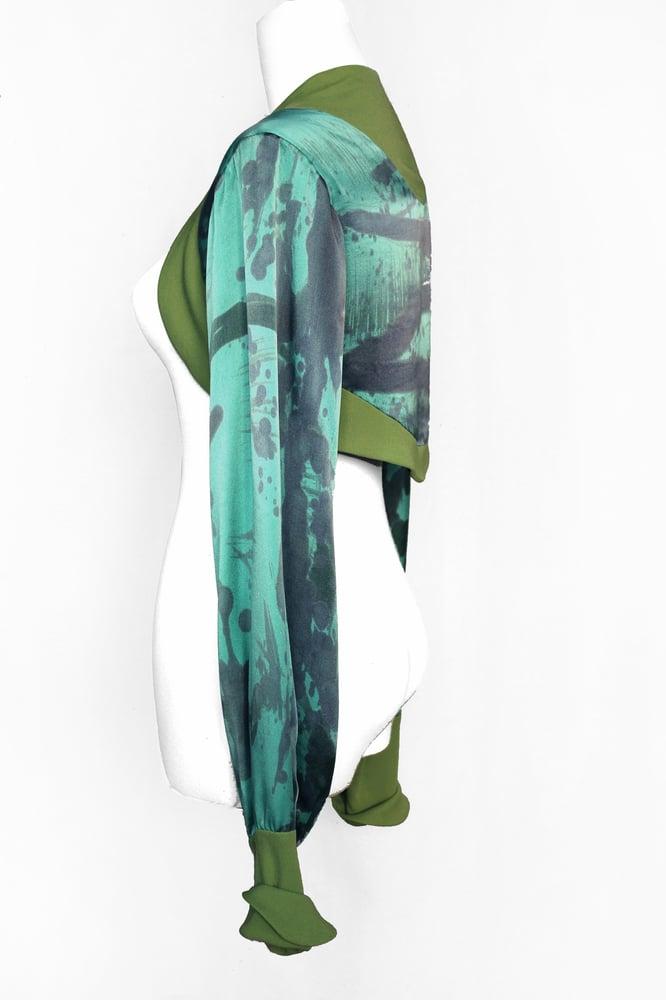 Image of TURQUOISE GREEN BOLERO JACKET