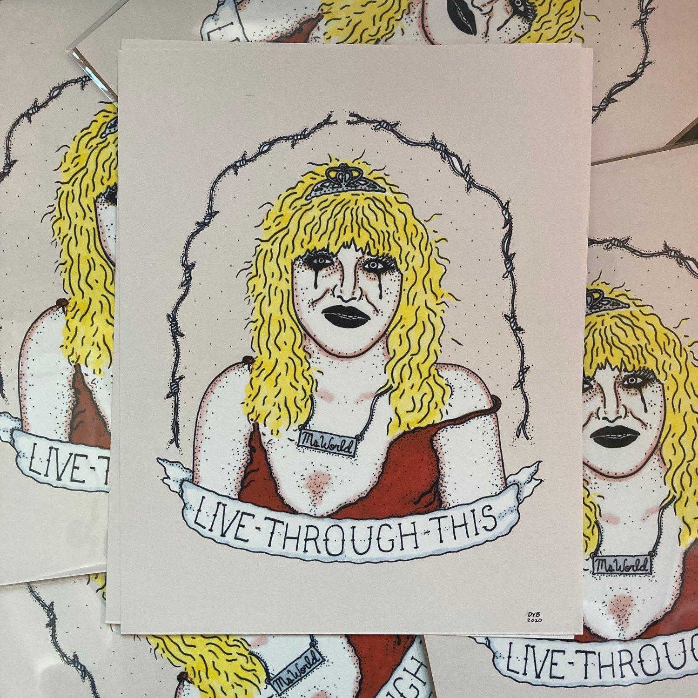 Courtney Love 8x10 print