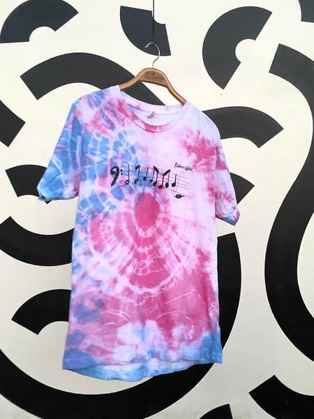 Image of Bass Line T-shirt Violet Storm Tie-Dye