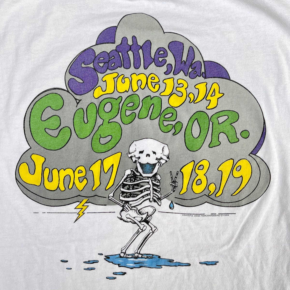 Original Vintage Grateful Dead Eugene Summer 1994 Tee! Large