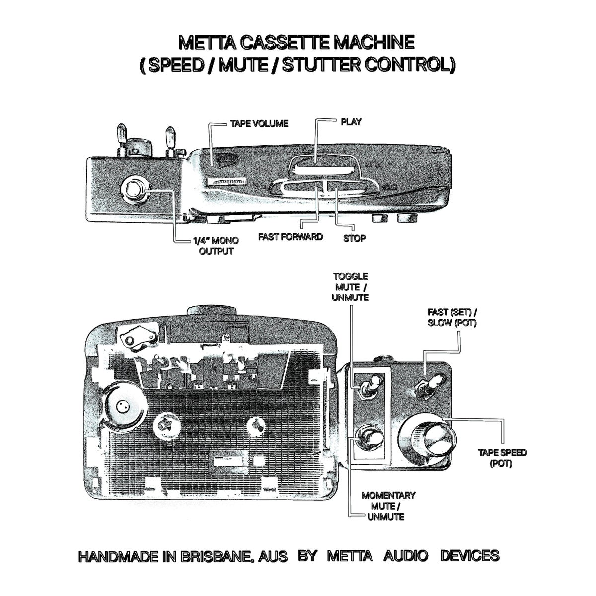 Image of Metta Cassette Machine  (Speed Adjustable Tape Player)