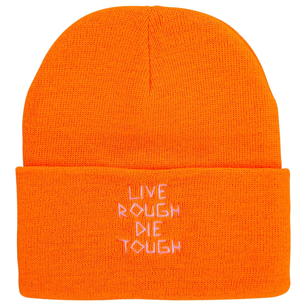 "Image of Orange ""Scratch"" Beanie"