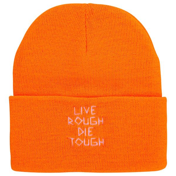 "Image of Orange ""Scratch"" Beanie"
