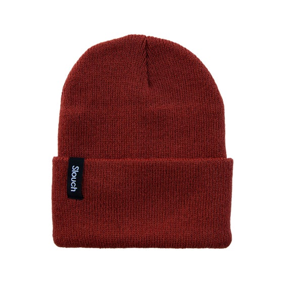 Image of Cranberry Knit Cuff Beanie
