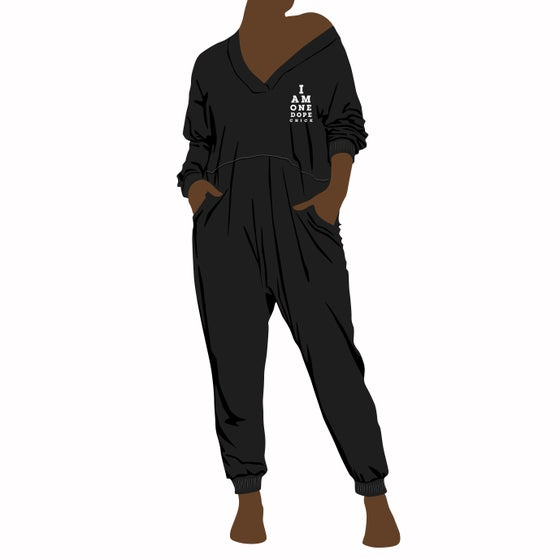 Image of I Am One Dope Chick Oversized Long Sleeved Jumpsuit