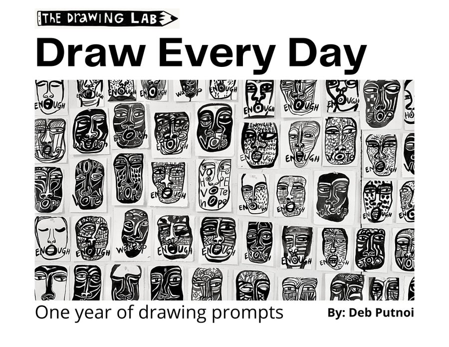 Image of Draw Every Day Calendar: One year of drawing prompts