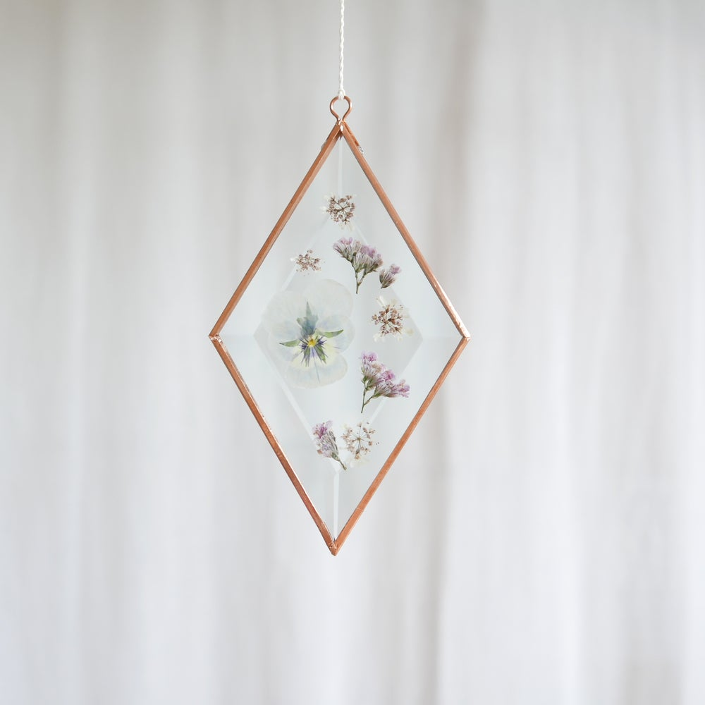 Image of Pressed Flower Suncatcher - Pansy