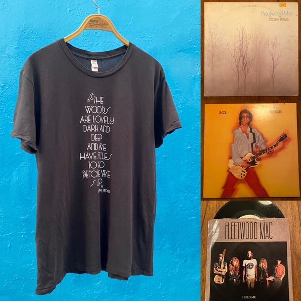 Image of T-shirt and Vintage Vinyl Gift Bundle - Hold Me, Bare Trees, Bob Welch