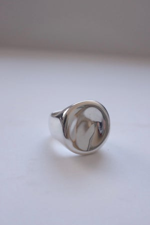 Image of Palette Signet Ring Large (silver)