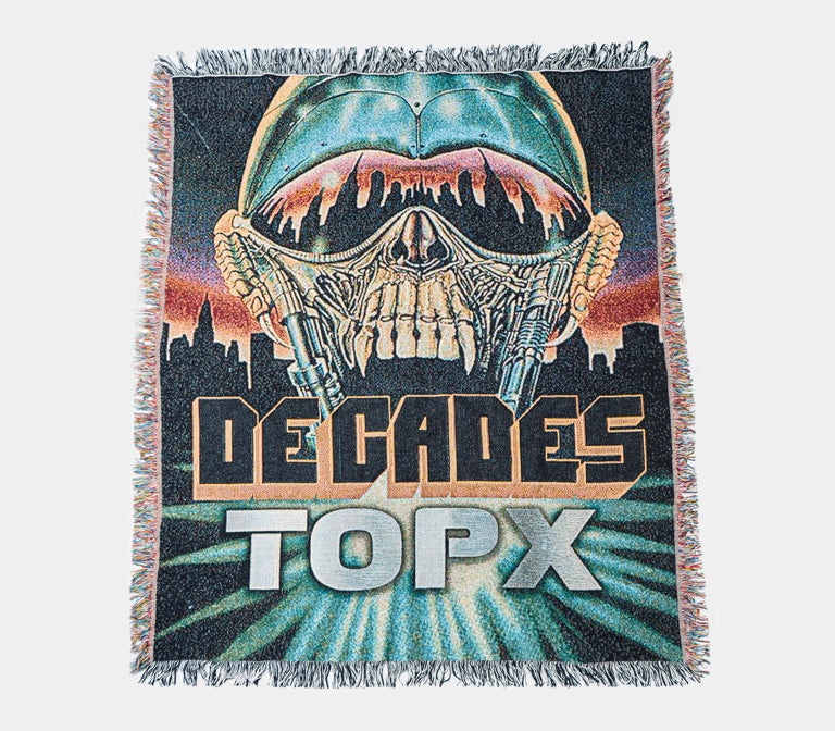 "Image of Decades/Terror Of Planet X ""Extinction City"" Woven Blanket"