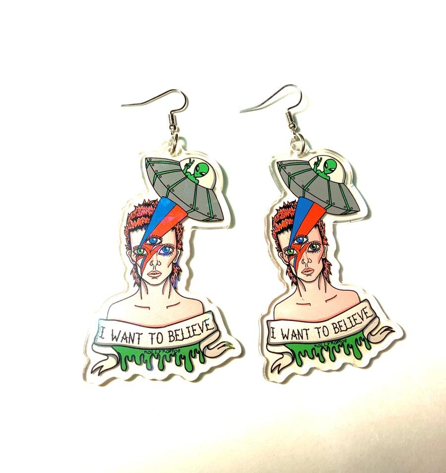 Image of Bowie In Space Earrings