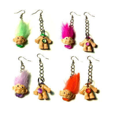 Image of Beheaded Troll Earrings