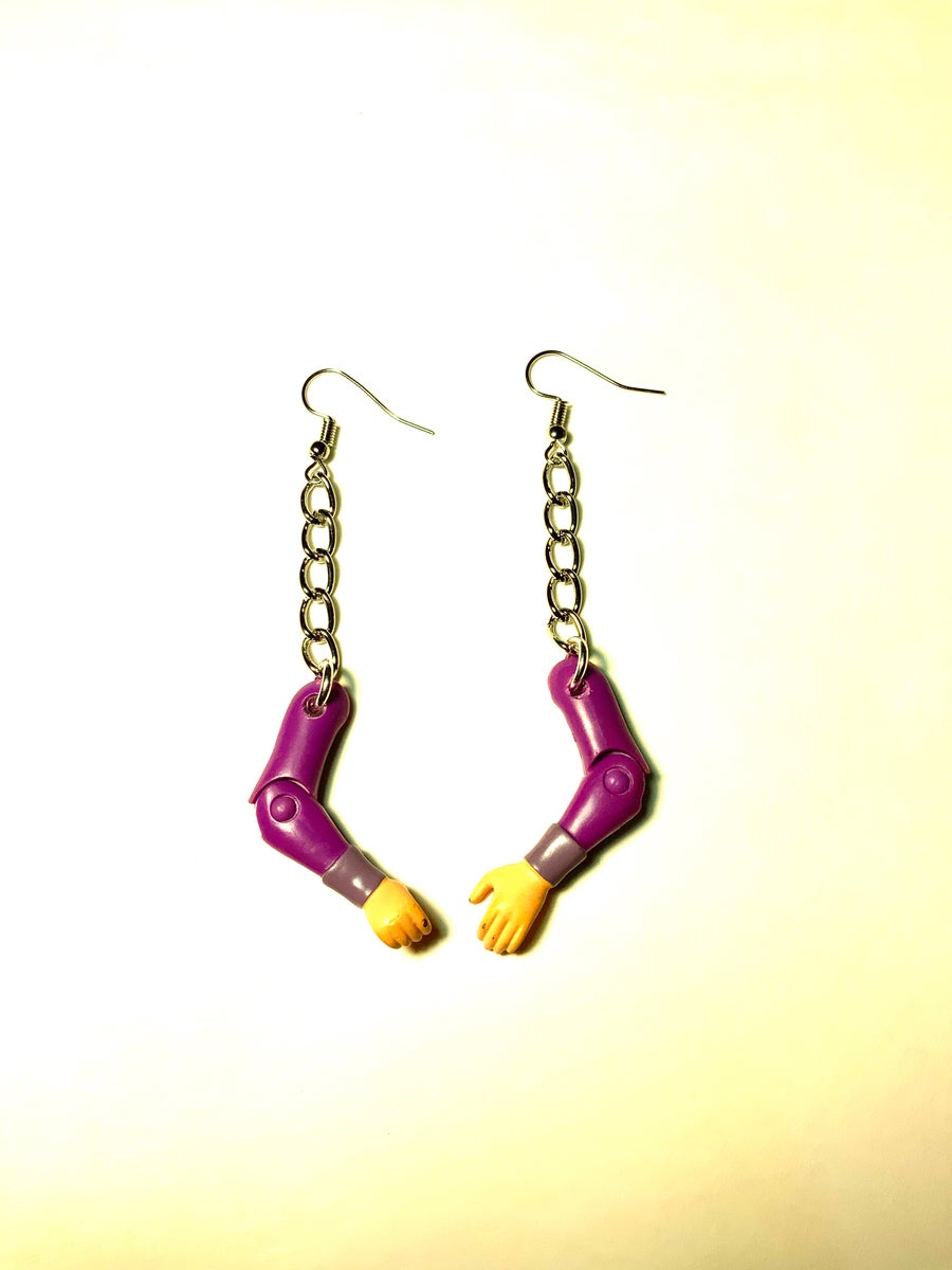 Image of Action Figure Arm Earrings