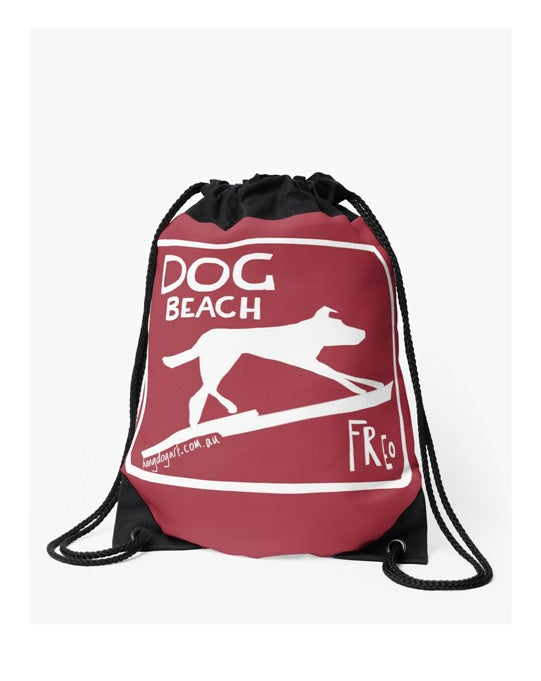 Image of Drawstring bag: The Dingo Started it (Red)