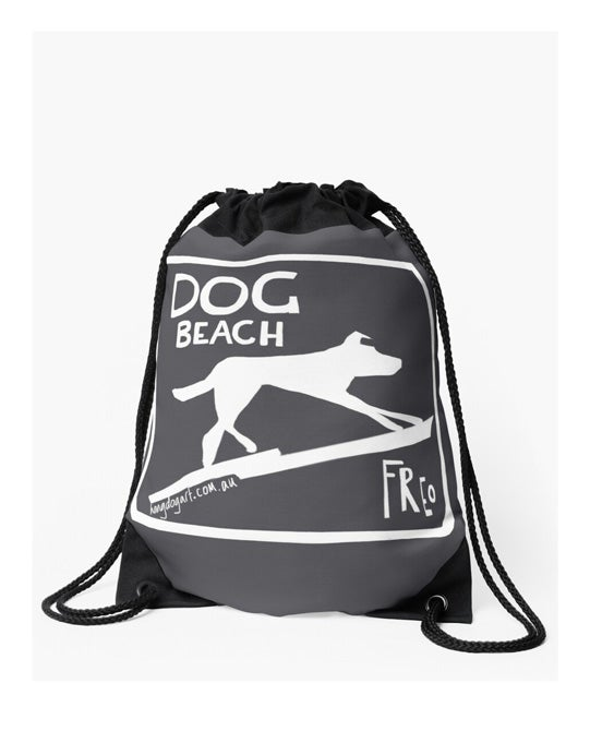 Image of Drawstring bag: The Dingo Started it: Charcoal