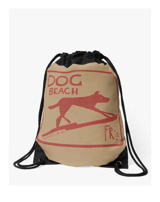 Image of Drawstring bag: The Dingo Started it (Gold)