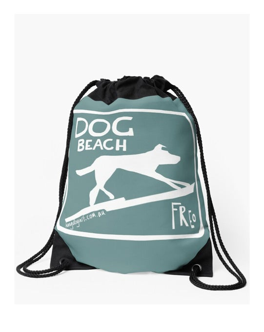 Image of Drawstring bag: The Dingo Started it (Turquoise)