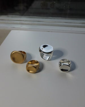 Image of Palette Signet Ring Small (silver / gold)