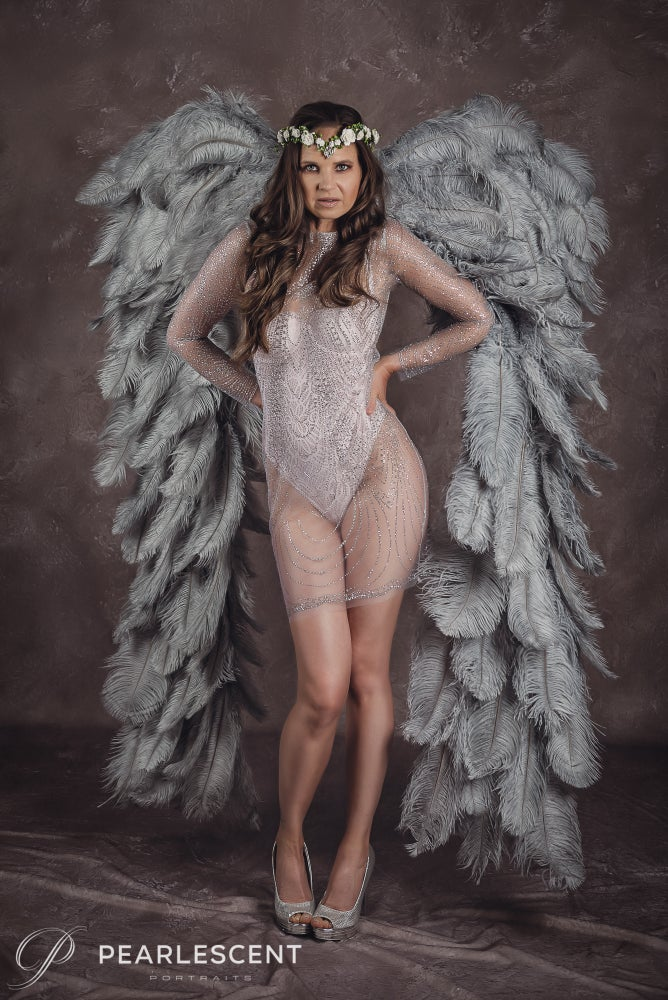 Image of Angel Wing Portrait Experience - Boudoir/Glamour/Beauty