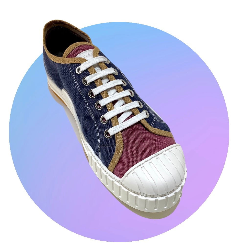 Image of Tortola X Quarter416 tricolour lo top sneaker shoes made in Spain