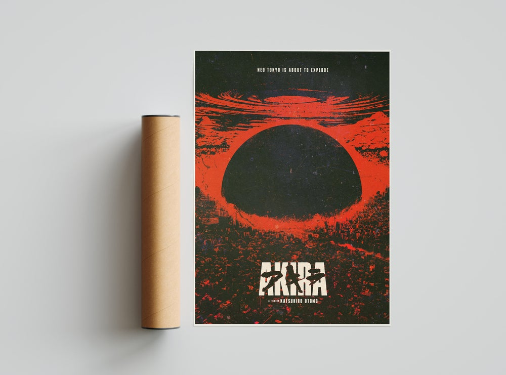 Akira - Anime Poster, Cyberpunk Movie Poster